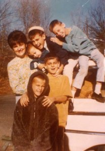 Granny with her five boys